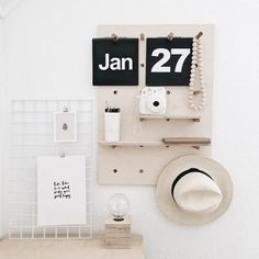 Home office goals . Get the look with our products: Peg board (R750) calendar (R350) wire mesh board (R250) lamp (R590) print (R110) wooden beads (R150) and tall coffee mug/pencil holder (R80). All available at www.monoshop.co.za.