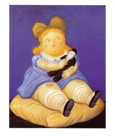 """We're born to be happy, all of us."" -Alfred Sutro (Image by Fernando Botero)"