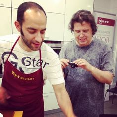 Andrés de El Amasadero y Carlos Egea, de Vegetal y tal, taller pan artesano (tomada con Instagram en Escuela de Cocina Pepekitchen)