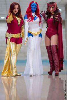 Marvel Comics Girls - Ms. Marvel, Mystique, Scarlet Witch - Comikaze 2013