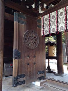 Meiji temple door