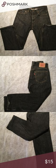 Levi jeans 501 Levi jeans worn only a few times. They have some light bleach sports on the legs indicated in photos otherwise in excellent condition. Levi's Jeans Bootcut