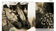 Black paper shoes made by marielouiseotte.dk