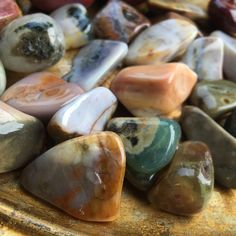 Tumbled Ocean Jasper for supreme joy and happiness Crystals And Gemstones, Stones And Crystals, Reiki, Joy And Happiness, Gems And Minerals, Crystal Healing, Jasper, Spirit, Ocean