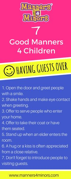[7 Good Manners For Children having guests over]