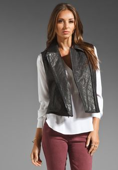THEORY Juno Madrigal Vest in Black at Revolve Clothing. Love this outfit!
