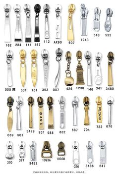 This is just the image, so I don't know if these are for sale, but what a great inspiration if you want to create your own zipper pulls. Sewing Accessories, Leather Accessories, Fashion Accessories, Bag Illustration, Zip Puller, Fashion Vocabulary, Diy Purse, Technical Drawing, Zipper Pulls