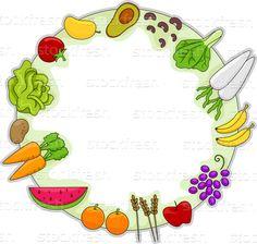 Saudável · comida · quadro · frutas · legumes · projeto - ilustração de vetor © lenm (#2716085) | Stockfresh