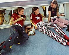 Jeans with stars and stripes, March 1971.  Preserve your memories at http://www.saveeverystep.com #nostalgia