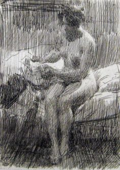Anders Zorn etching