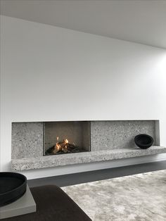Fire place in Ceppo di Gre - VLJ Residence Belgium by vlj-architecten