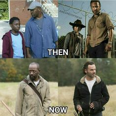 """Morgan- """"Is your son still alive?"""" Rick- """"Yeah"""" Morgan- """"He won't be...."""""""