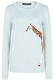 Sugarhill Boutique Nita aqua jumper with giraffe intarsia. Clothes Horse, Beautiful Outfits, Giraffe, Women Wear, Victoria, Boutique, My Style, Sweatshirts, Womens Fashion