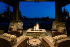 I like the square fire pit.
