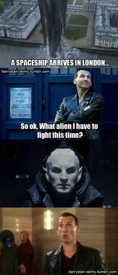 Which is funny if you know that Christopher Eccleston (who plays the 9th Doctor) also play the villain in Thor 2.