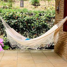 Fringe Brazilian hammock to relax in!