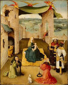 Hieronymus Bosch : The Adoration of the Magi ( Metropolitan Museum of Art - New York, NY (United States - New York)) ヒエロニムス・ボス Hieronymus Bosch Paintings, Renaissance Kunst, Fine Art Prints, Canvas Prints, Canvas Artwork, Dutch Painters, Old Master, Triptych, Metropolitan Museum