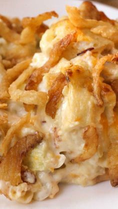 French Onion Chicken Casserole Recipe ~ Simple and delicious Easy Pasta Recipes, Fast Recipes, Easy Meals, Food Is Fuel, Mashed Potatoes, Whipped Potatoes, Quick Recipes, Smash Potatoes, Quick Easy Meals