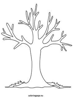 fall tree coloring pages for preschool | { Mormon Share } Tree Bare | Preschool | Pinterest | Tree ...