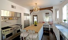 "The wonderful kitchen of the ""It's Complicated"" hacienda from Hooked on Houses."