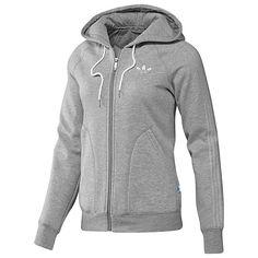 adidas College Fleece Hooded Track Top