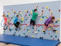 Provide endless hours of upper body strength building with climbing games & activities! Buy ULTRAVERSE Complete Climbing Wall Packages for your climbing unit today! Kids Climbing, Indoor Climbing, Climbing Wall, Sport Climbing, Indoor Playroom, Indoor Gym, Indoor Slides, Wall Game, Kids Indoor Playground