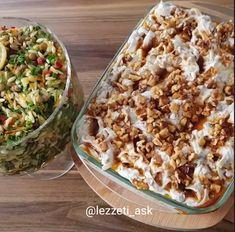 Yoğurtlu Mercimek Salatası ve Sebzeli Yeşil Mercimekli Salatası - Mutfakgram Fried Rice, Macaroni And Cheese, Fries, Vegetables, Ethnic Recipes, Food, Kitchen, Mac And Cheese, Cooking