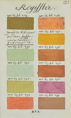 "In 1692 an artist known only as ""A. Boogert"" sat down to write a book in Dutch about mixing watercolors. Not only would he begin the book with a bit about the use of color in painting, but would go on to explain how to create certain hues and change the tone by adding one, two, or three parts of water. The premise sounds simple enough, but the final product is almost unfathomable in its detail and scope. Spanning nearly 800 completely handwritten (and painted) page"