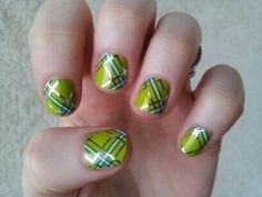 Green and Silver Plaid JBN.jpg provided by Trinda Burch - Independent Consultant for Jamberry Nails Canyon Lake 92587