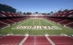 Stanford University Football Stadium. Catch a game during the Fall!