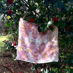 Eco printing experiments – Rebecca Desnos Camellia Tree, Relaxing Art, Flower Prints, Flowers, Printing, Pattern, Natural Dyeing, Bleach, Dress