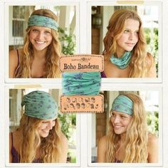 Boho Bandeaus are so versatile! They're the best! https://www.naturallife.com/accessories.html