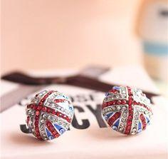 United Kingdom flag earrings   UK flag earrings - $5.49USD