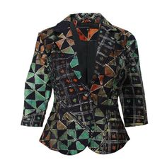 African Indigo Citrus Batik Blazer, nigérian Tie Dye veste Cropped, ethnique vêtements, veste africaine, Womens blazer, Adire, Funky jacket