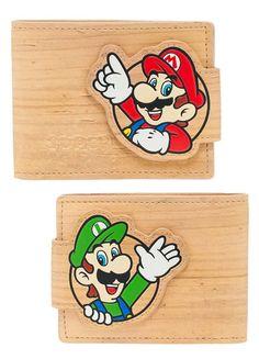 efa7dbc72 Billetera caras Mario y Luigi. Super Mario Bros