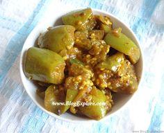 Green Brinjal Curry - Blogexplore Food & Recipes