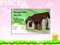 METROGATE - HERITAGE VILLAS SAN JOSE- MAJA MODEL HOUSE - 96SQM LOT AREA  AND 60SQM FLOOR AREA