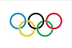 Olympic flag _ flag consisting of a white field bearing five equal interlocking rings of blue, dark yellow, black, green, and red with separations wherever two rings intersect. The width-to-length ratio of the flag is Coloring Apps, Coloring Pages For Kids, Olympic Flag, Modern Games, Olympic Committee, Flags Of The World, Ancient Greece, Olympic Games, Nostalgia