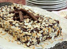 Triple-Layer Chocolate Macaroon Cake from @creativculinary