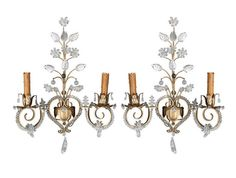 French beaded sconces