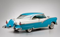 1956 Ford Fairlane Victoria Hardtop Coupe rear angle - Car Pictures