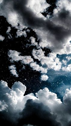 Clouds Wallpaper Iphone, Night Sky Wallpaper, Phone Wallpaper Images, Iphone Wallpaper Tumblr Aesthetic, Black Aesthetic Wallpaper, Cute Wallpaper Backgrounds, Pretty Wallpapers, Galaxy Wallpaper, Aesthetic Wallpapers