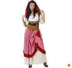 Costume for Adults Party Maid Size XL for sale online Fantasia Disney, Adult Costumes, Costumes For Women, Medieval Dress Pattern, Handkerchief Dress, Medieval Costume, Suits For Women, Ideias Fashion, Fashion Dresses