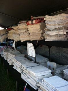 Grain Sack Linen - rows  Margaret Meier's booth at a show