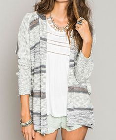 Another great find on #zulily! Shadow Alani Hooded Open Cardigan #zulilyfinds