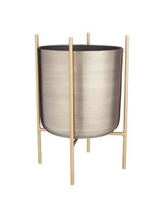 Buy Design Project by John Lewis Indoor Planter, Metallic, Large from our Pots & Planters range at John Lewis & Partners. Front Room Design, Indoor Planters, Kitchen Living, Minimalist Design, John Lewis, Design Projects, Family Room, Home And Garden, Contemporary