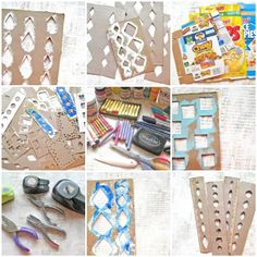 Alma Stoller: Video Tutorial: how to make paper stencils with cereal boxes. Looks so easy..