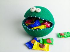 Felt+Candy+Bowl+/+Soft+Container++Green+by+felttess+on+Etsy,+$22.00