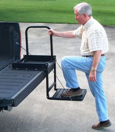 Truck'n Buddy Pickup Tailgate Step - $179.00  Do you have a flatbed truck or equipment trailer? Don't struggle to access them any longer! The Truck N' Buddy will make entering and exiting convenient for you.