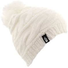 e45b5de32ae The North Face Triple Cable Pom Beanie women s White Hats ( 30) ❤ liked on